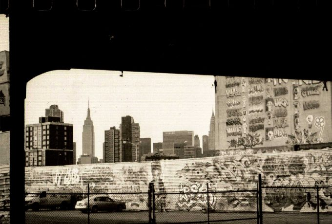 scanned film of 5 pointz in new york