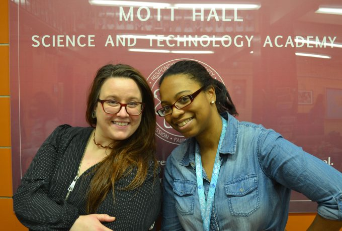 Teachers at Mott Hall Science and Technology Academy