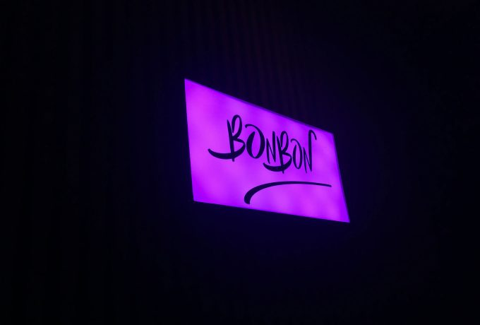 The entrance of the mexican gay club 'Bon Bon'.