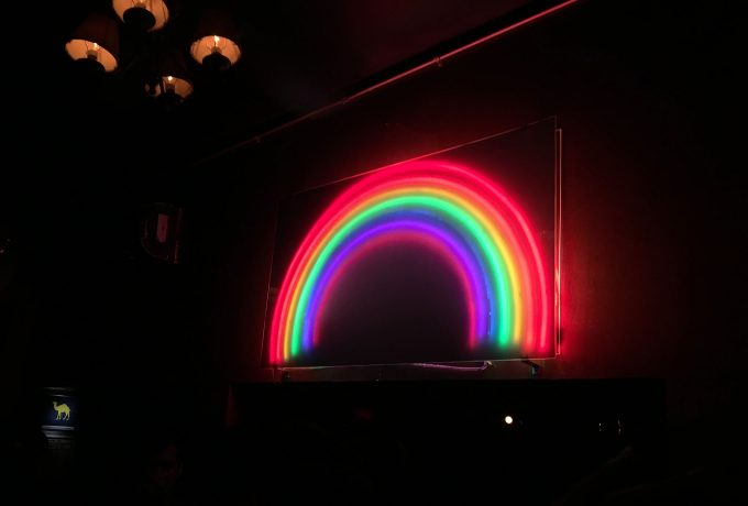 The club's rainbow lights.